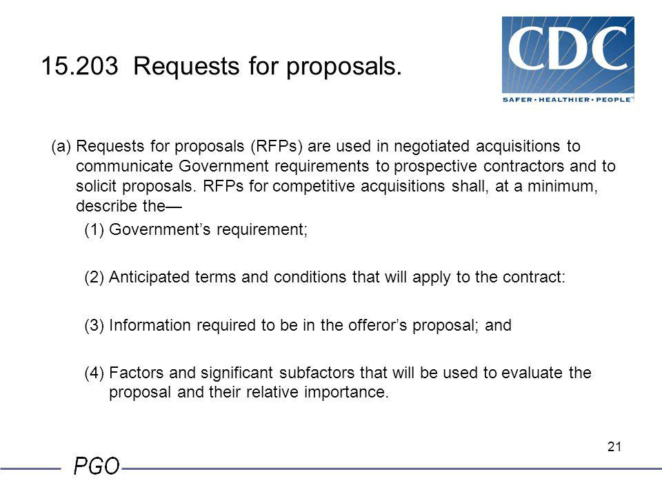 15.203 Requests for proposals.
