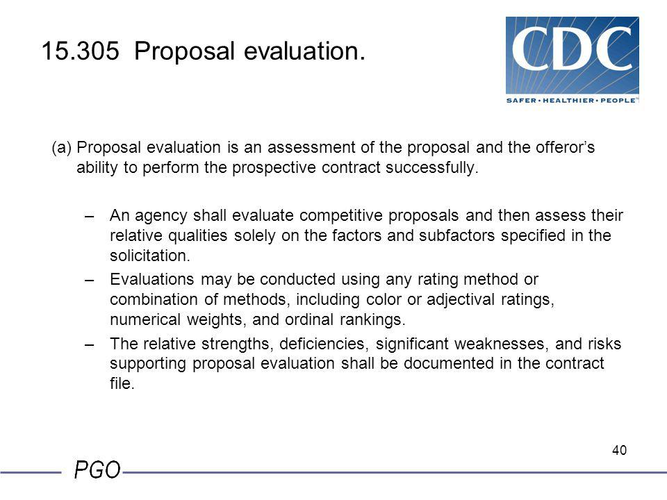15.305 Proposal evaluation.