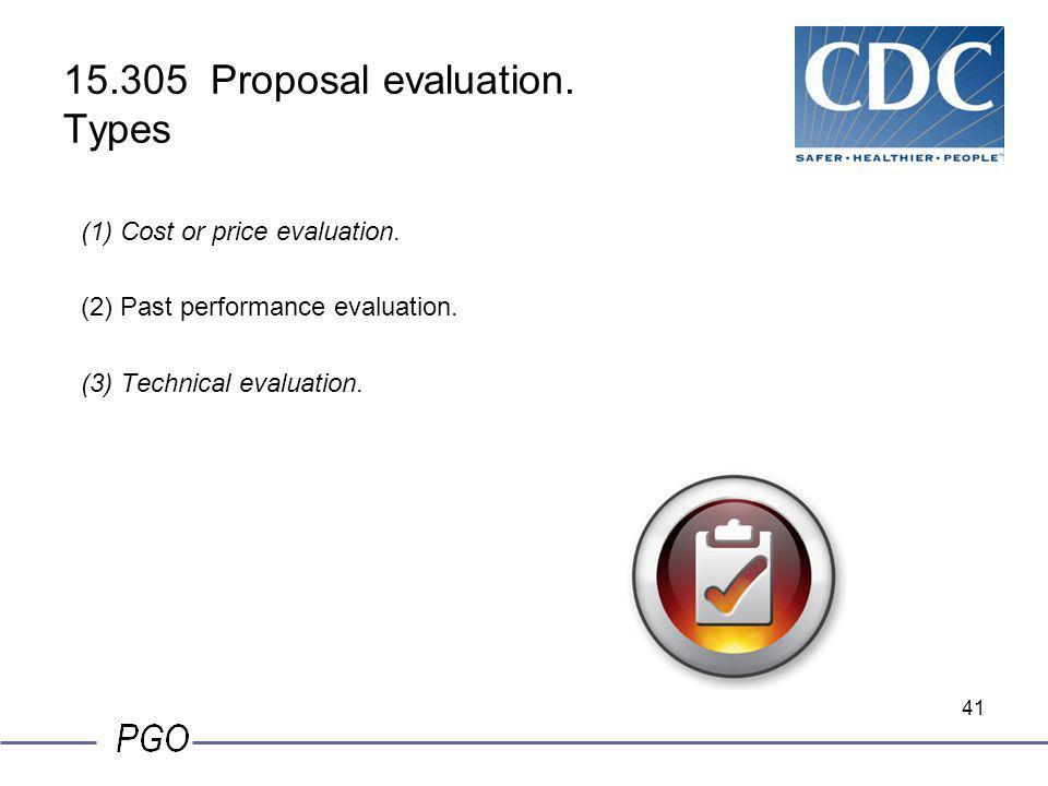 15.305 Proposal evaluation. Types