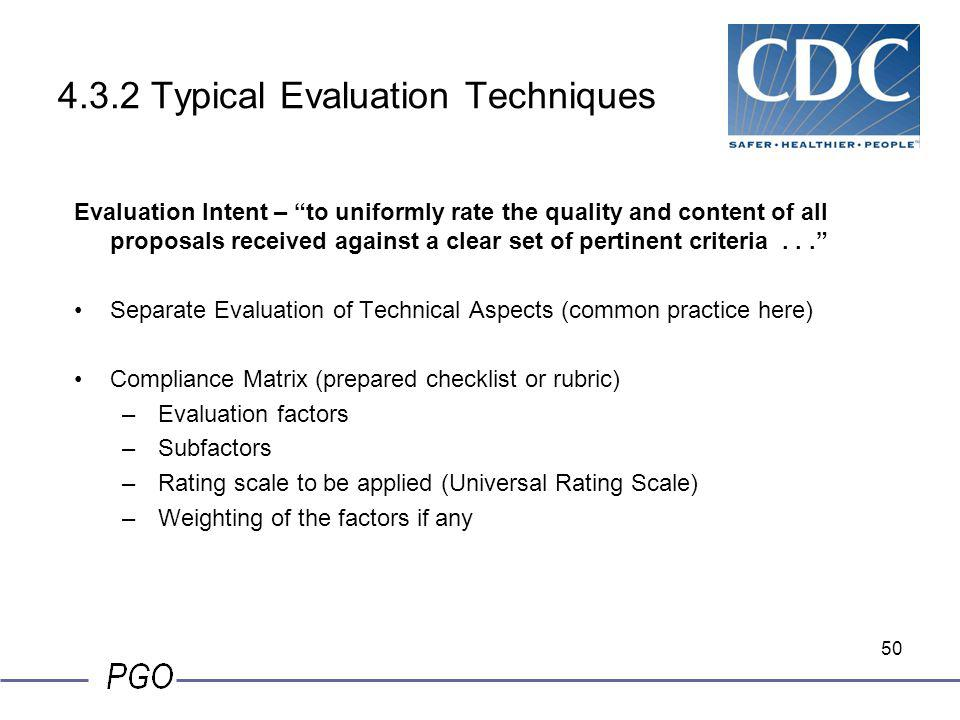 4.3.2 Typical Evaluation Techniques