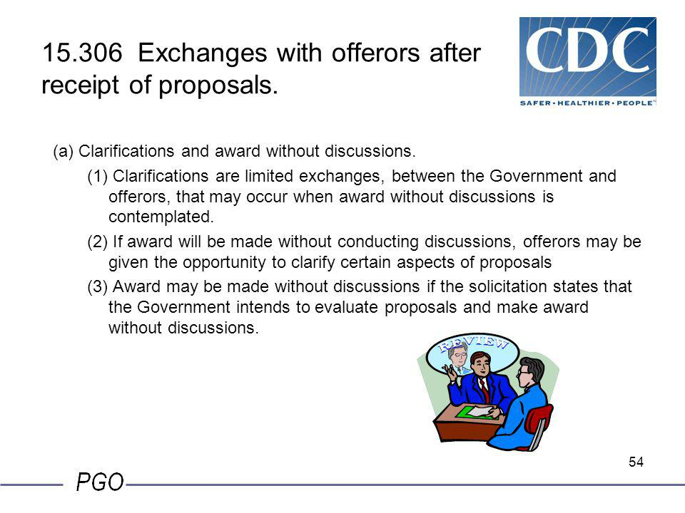 15.306 Exchanges with offerors after receipt of proposals.