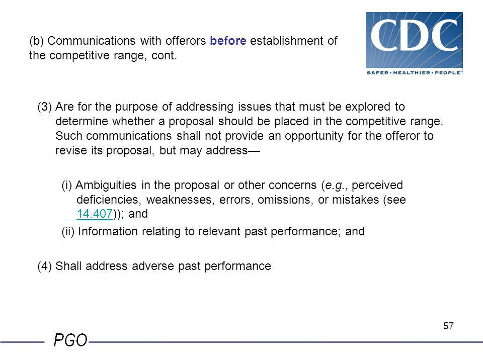 (ii) Information relating to relevant past performance; and