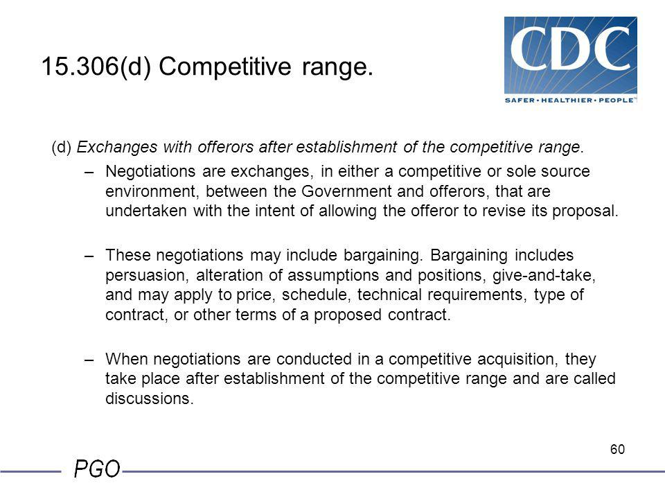 15.306(d) Competitive range. (d) Exchanges with offerors after establishment of the competitive range.