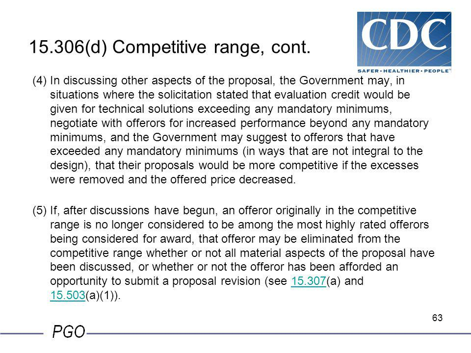 15.306(d) Competitive range, cont.