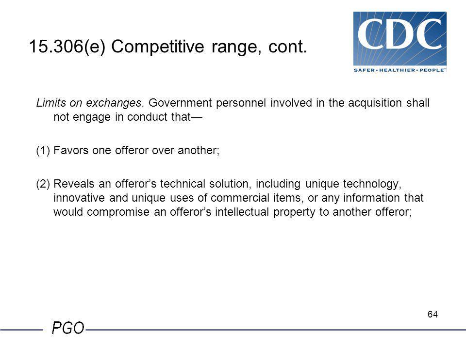 15.306(e) Competitive range, cont.