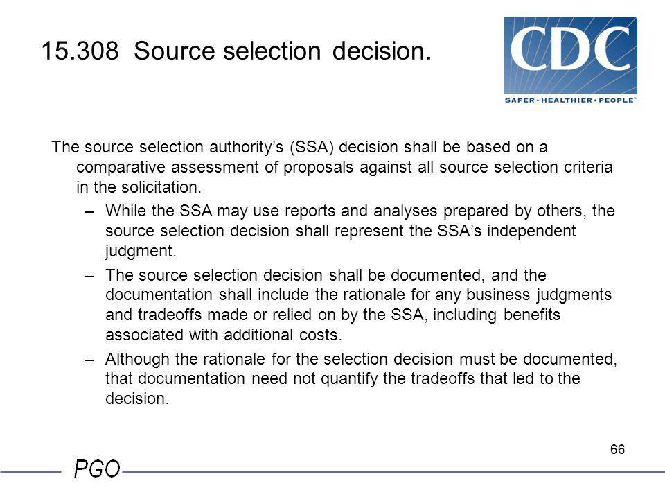 15.308 Source selection decision.