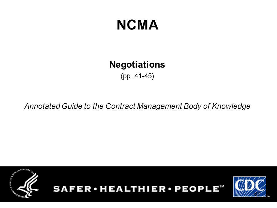 Annotated Guide to the Contract Management Body of Knowledge