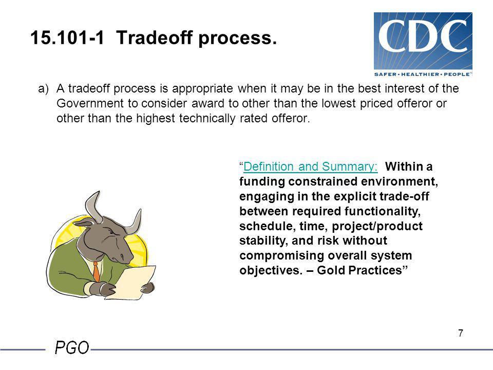 15.101-1 Tradeoff process.