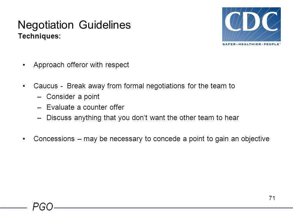 Negotiation Guidelines Techniques: