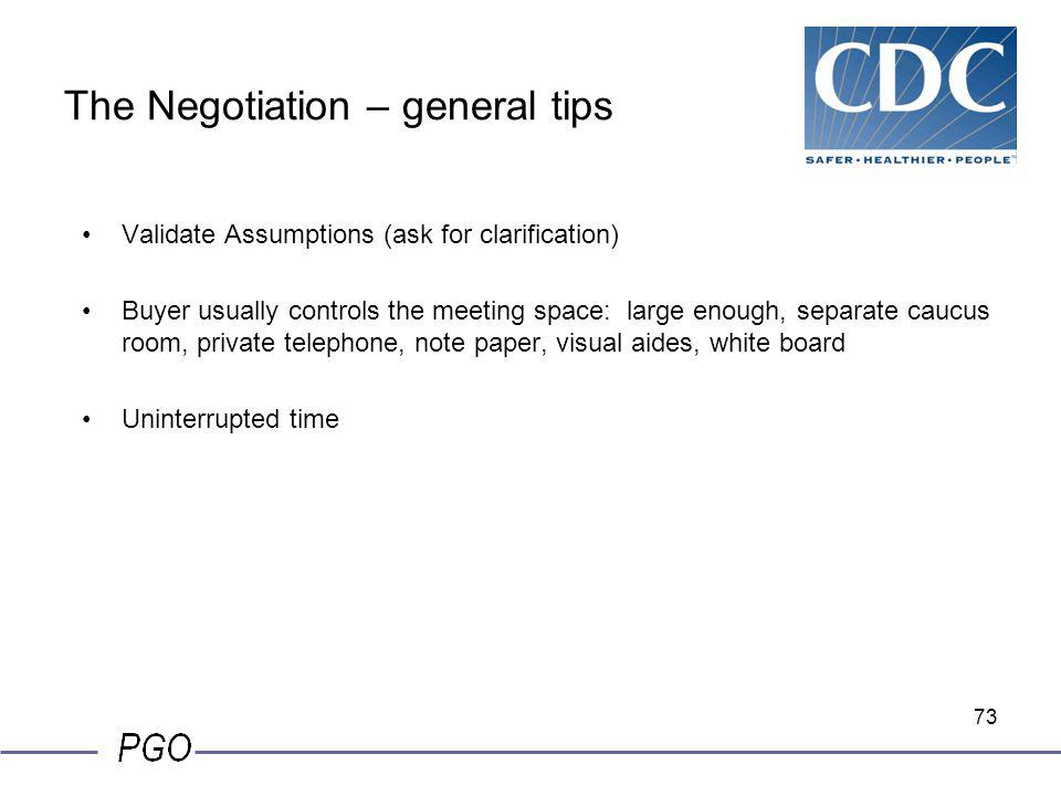 The Negotiation – general tips