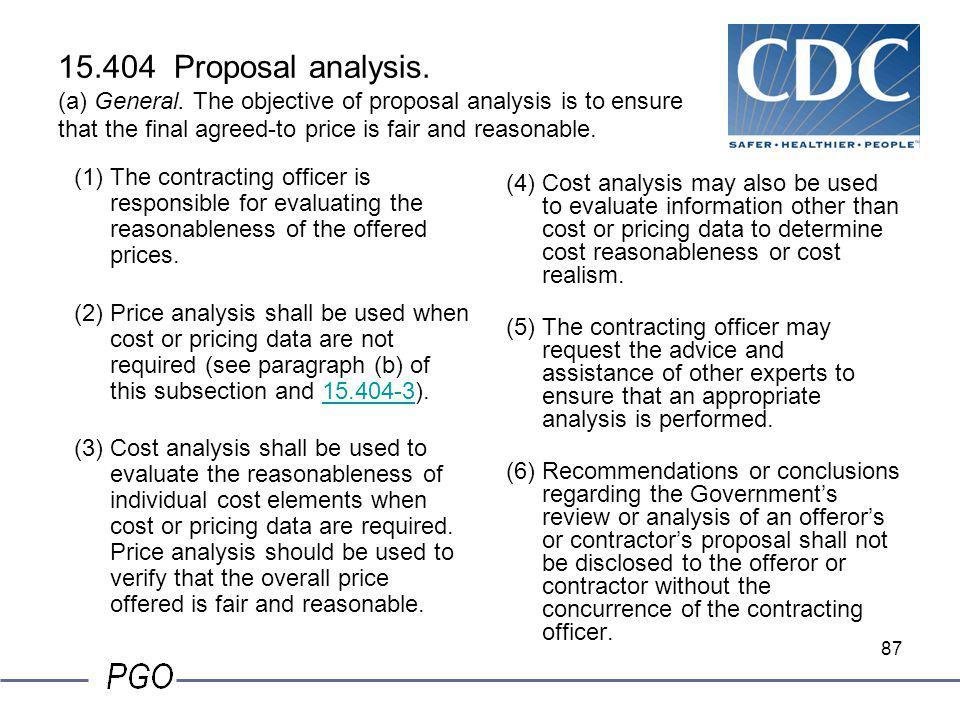 15. 404 Proposal analysis. (a) General