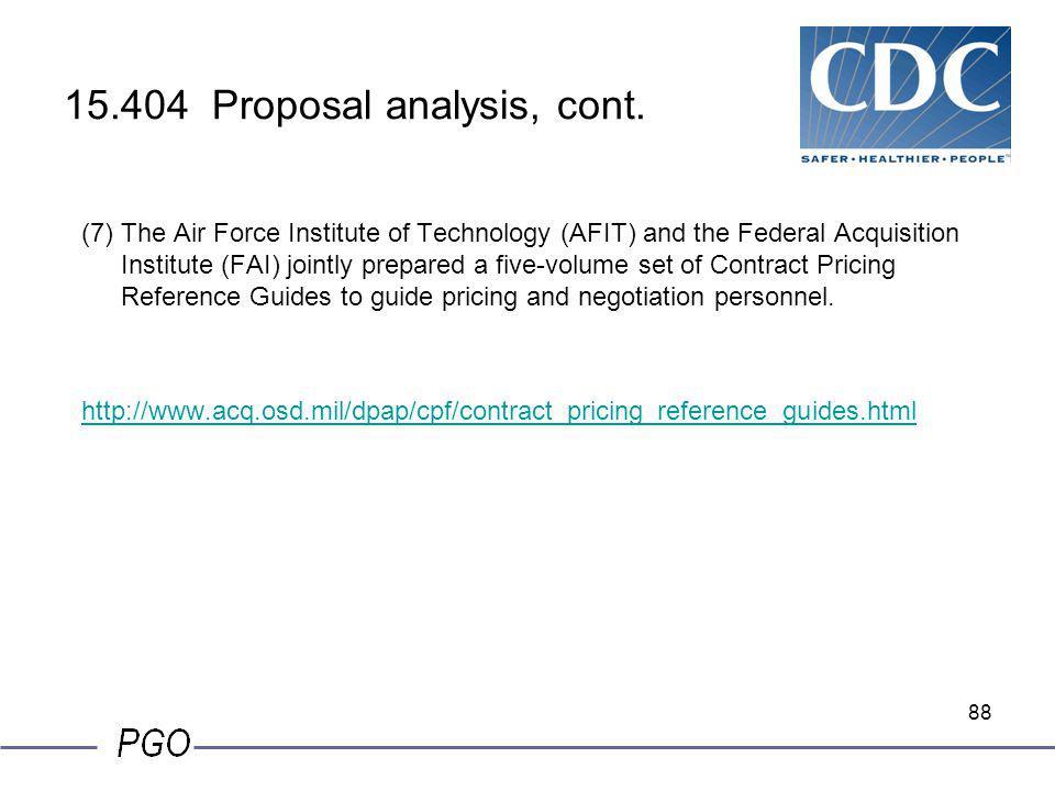 15.404 Proposal analysis, cont.