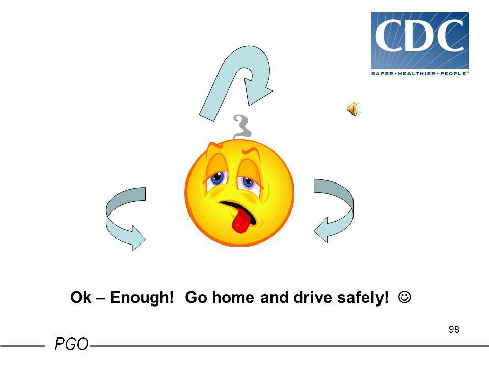 Ok – Enough! Go home and drive safely! 