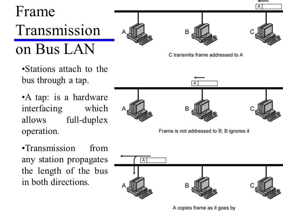 Frame Transmission on Bus LAN