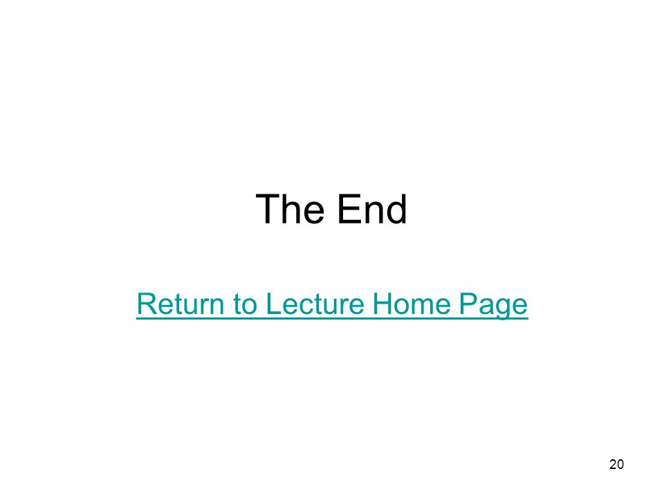Return to Lecture Home Page