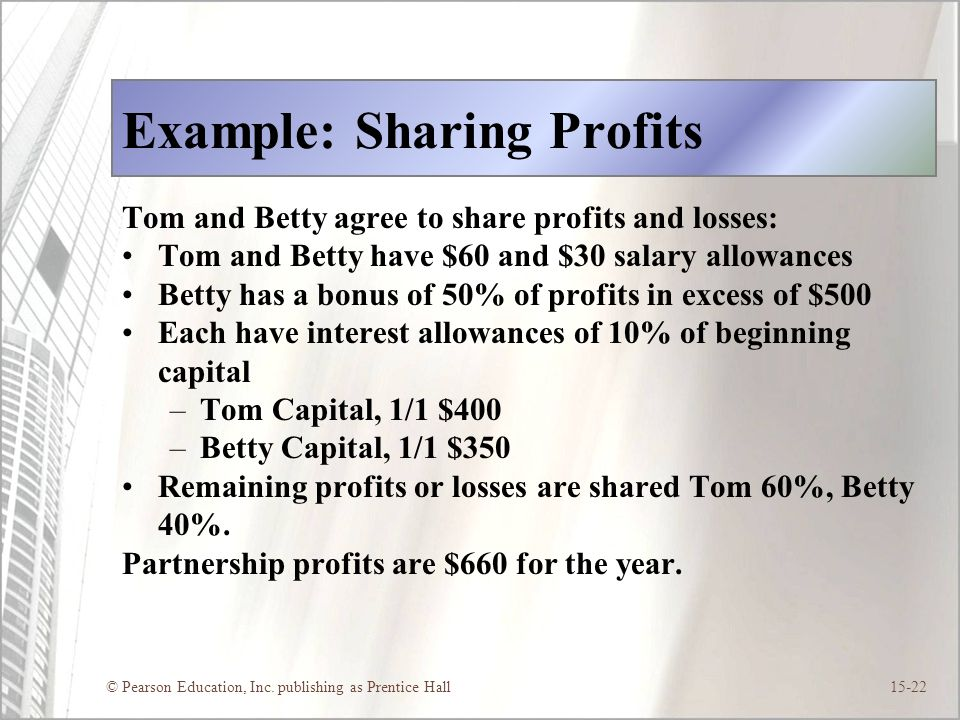 Example: Sharing Profits