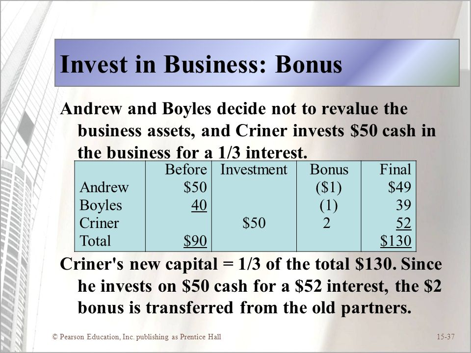Invest in Business: Bonus