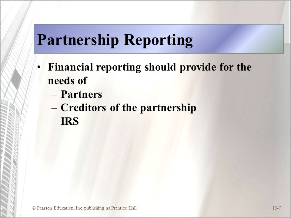Partnership Reporting