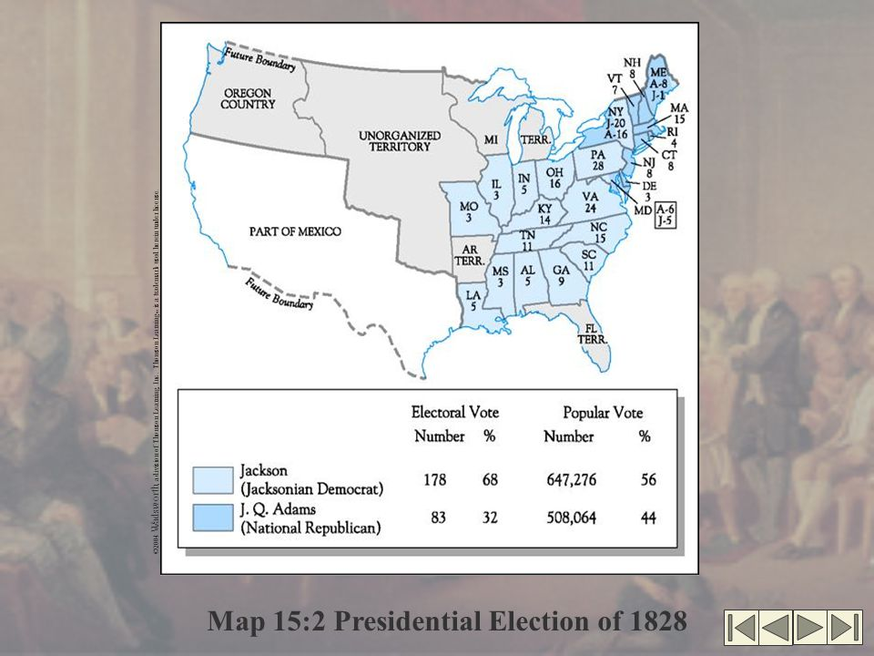 Map 15:2 Presidential Election of 1828