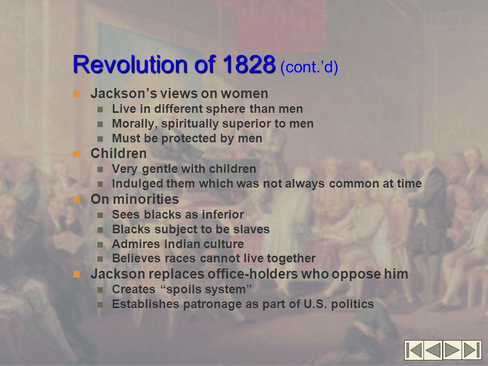 Revolution of 1828 (cont.'d)