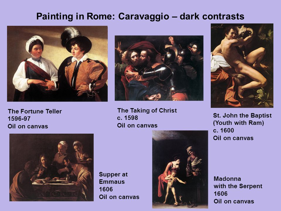 Painting in Rome: Caravaggio – dark contrasts