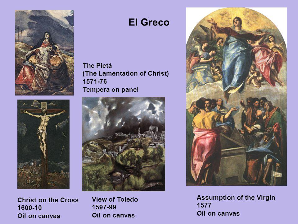 El Greco The Pietà. (The Lamentation of Christ) 1571-76 Tempera on panel. GRECO, El (b. 1541, Candia, d. 1614, Toledo)