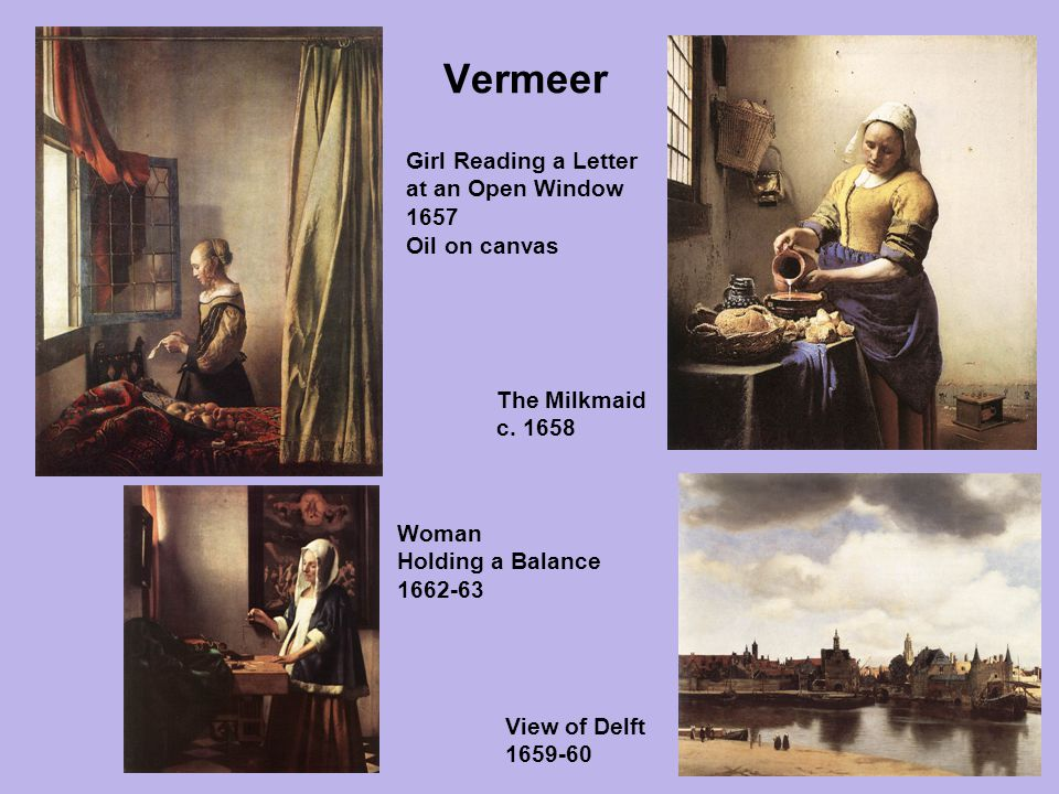 Vermeer Girl Reading a Letter at an Open Window 1657 Oil on canvas