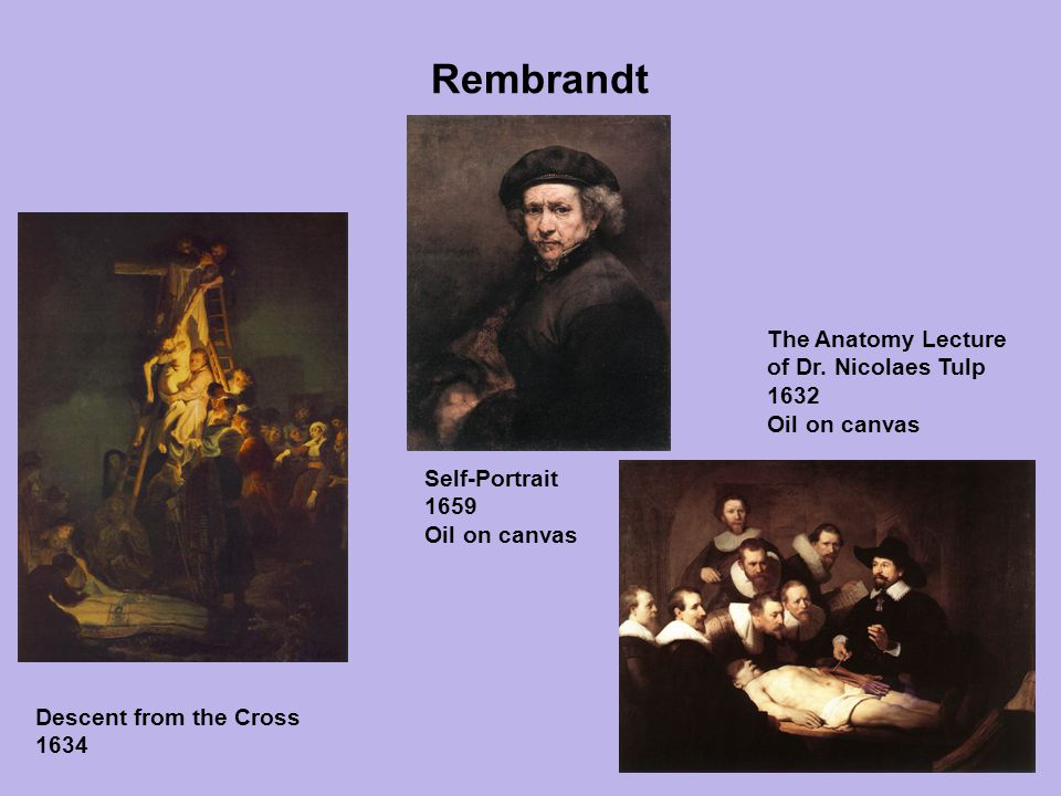 Rembrandt The Anatomy Lecture of Dr. Nicolaes Tulp 1632 Oil on canvas