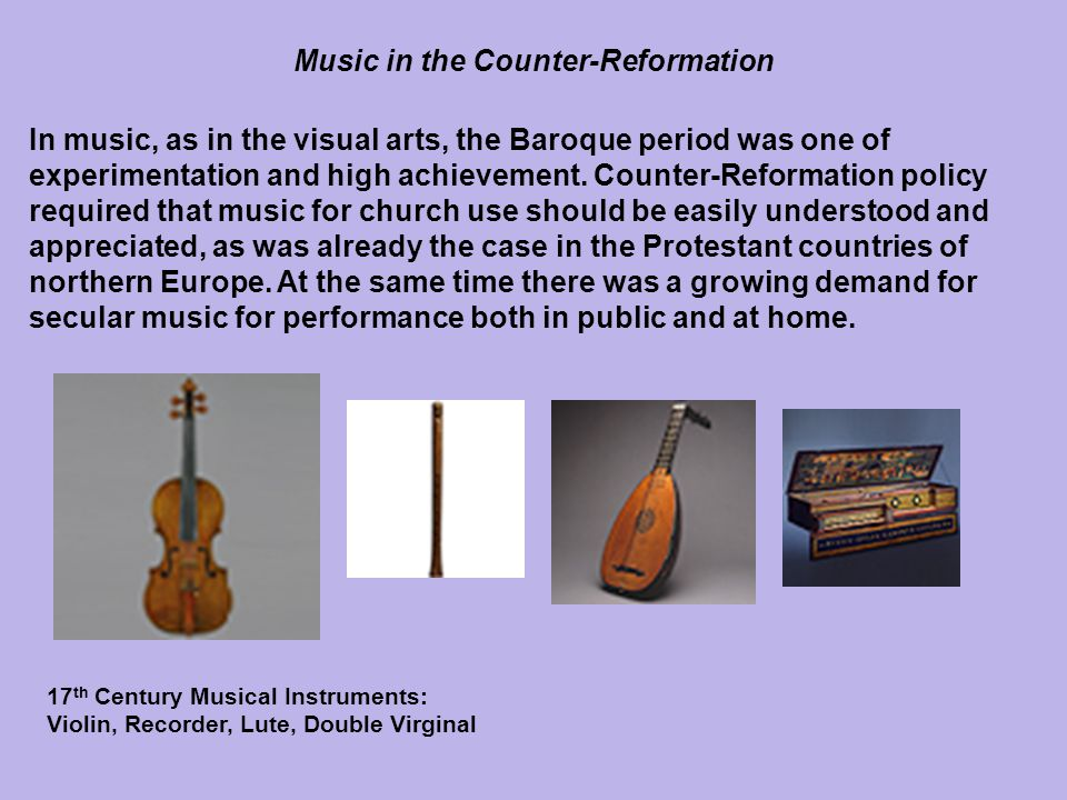 Music in the Counter-Reformation