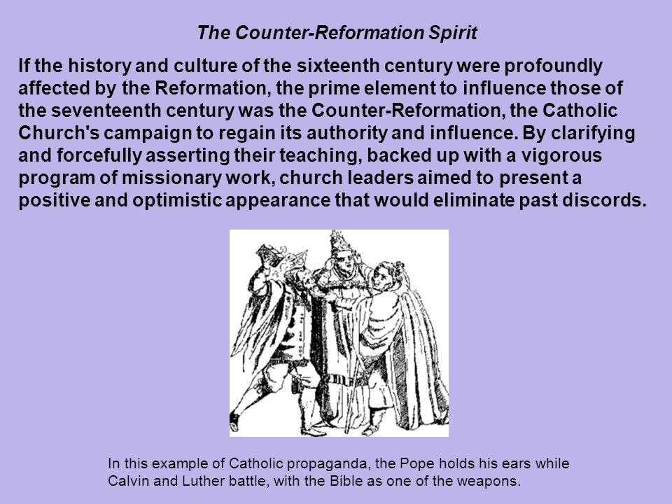 The Counter-Reformation Spirit