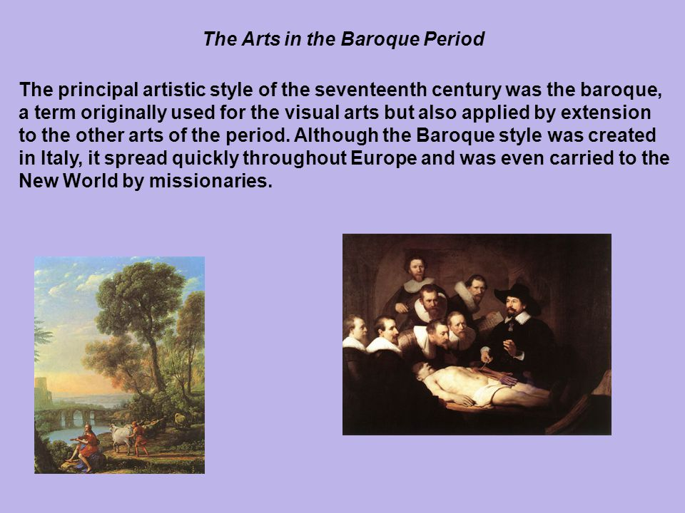 The Arts in the Baroque Period