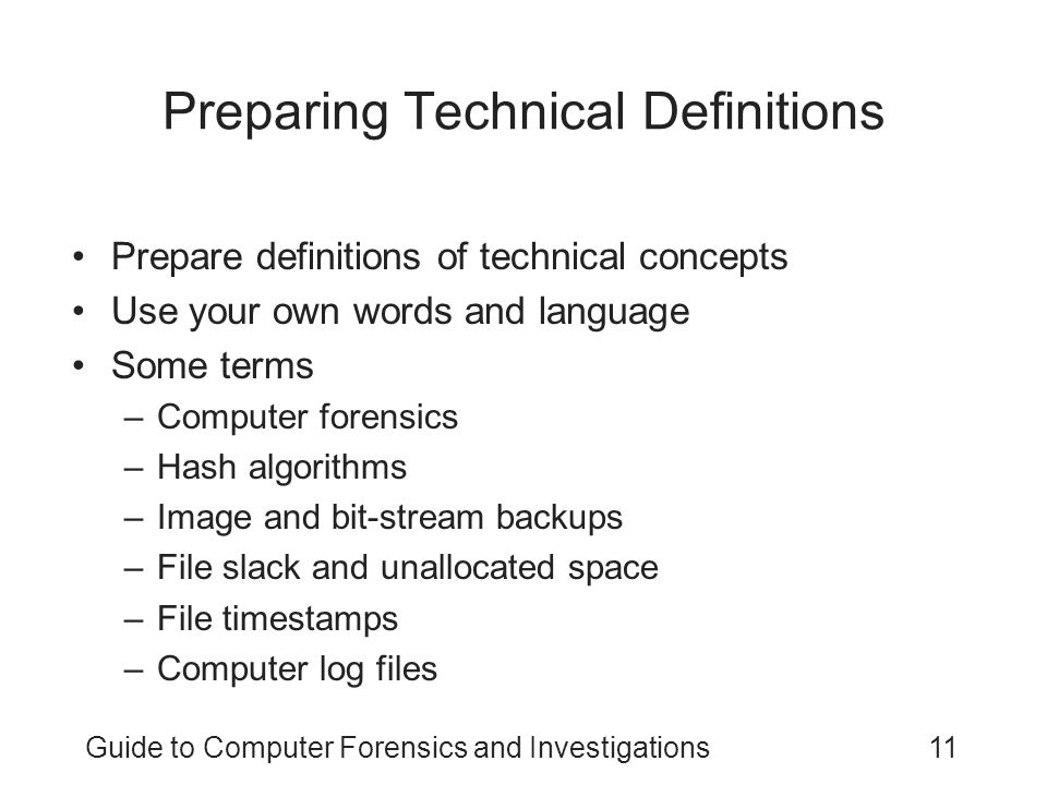 Preparing Technical Definitions