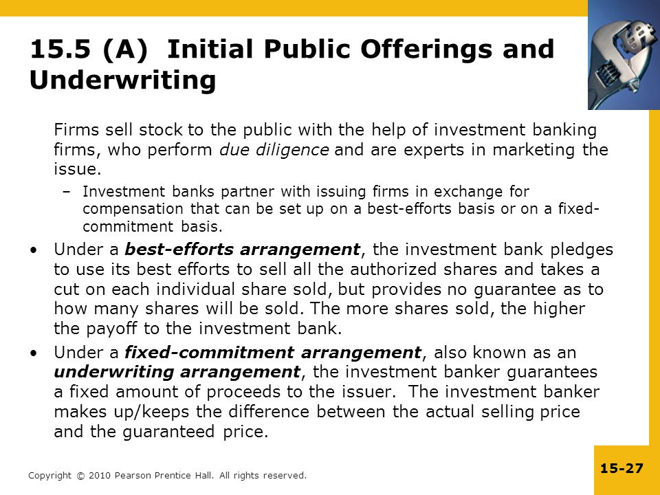 15.5 (A) Initial Public Offerings and Underwriting