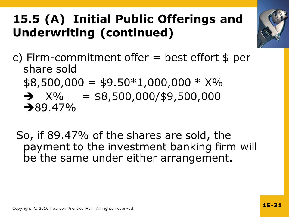 15.5 (A) Initial Public Offerings and Underwriting (continued)