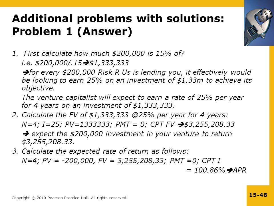 Additional problems with solutions: Problem 1 (Answer)