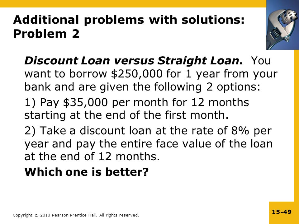 Additional problems with solutions: Problem 2