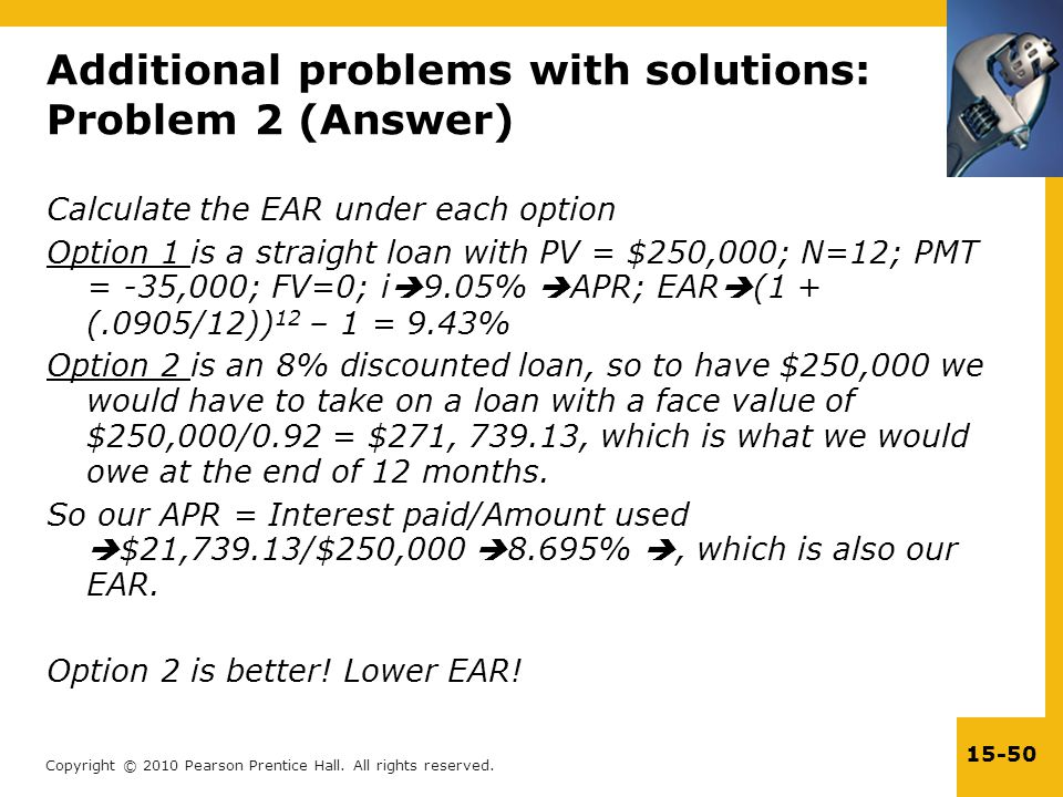 Additional problems with solutions: Problem 2 (Answer)