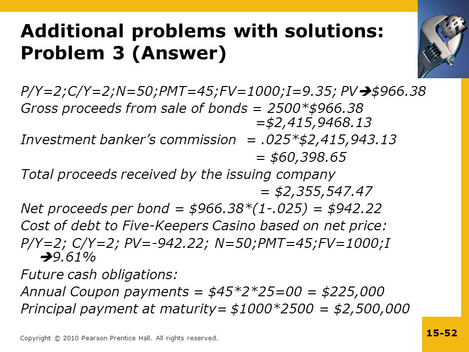 Additional problems with solutions: Problem 3 (Answer)