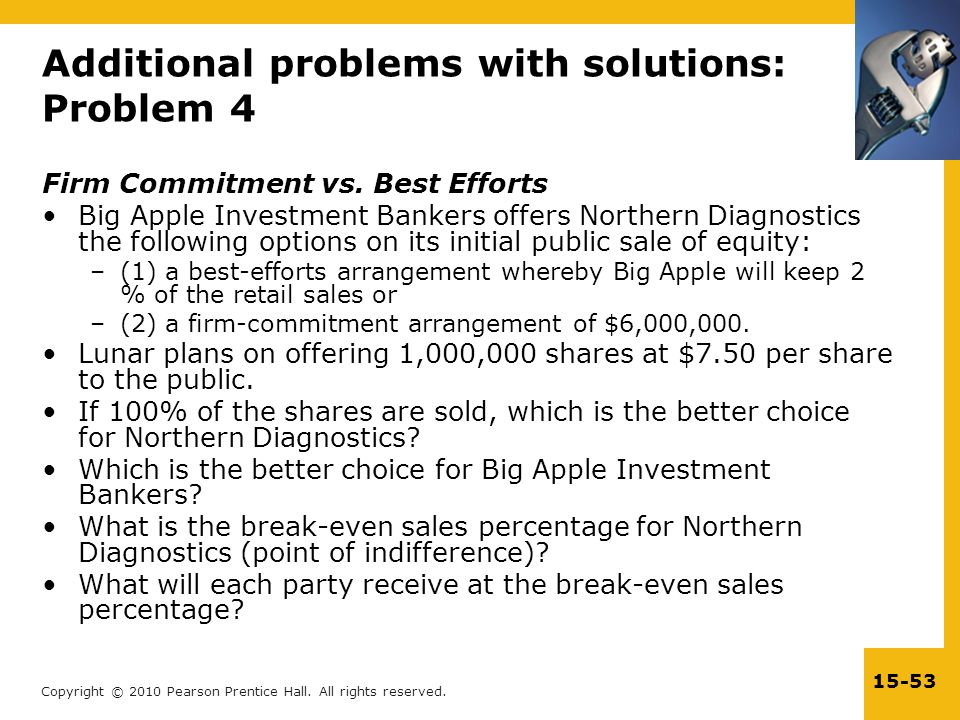 Additional problems with solutions: Problem 4