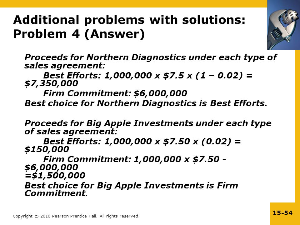 Additional problems with solutions: Problem 4 (Answer)