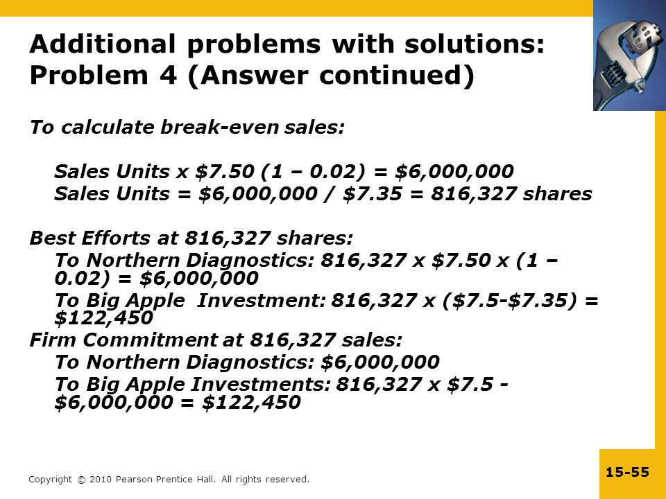 Additional problems with solutions: Problem 4 (Answer continued)