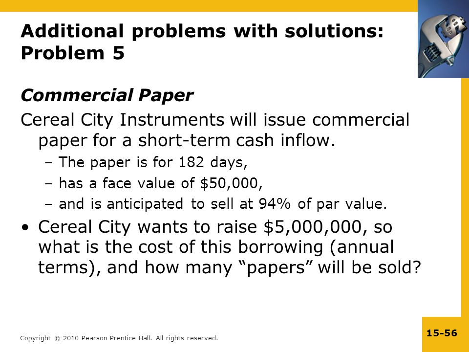 Additional problems with solutions: Problem 5