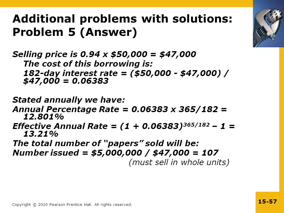 Additional problems with solutions: Problem 5 (Answer)