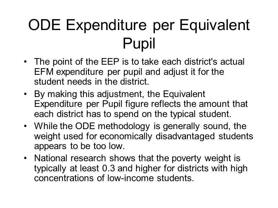 ODE Expenditure per Equivalent Pupil