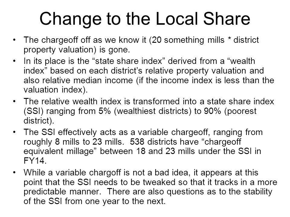 Change to the Local Share