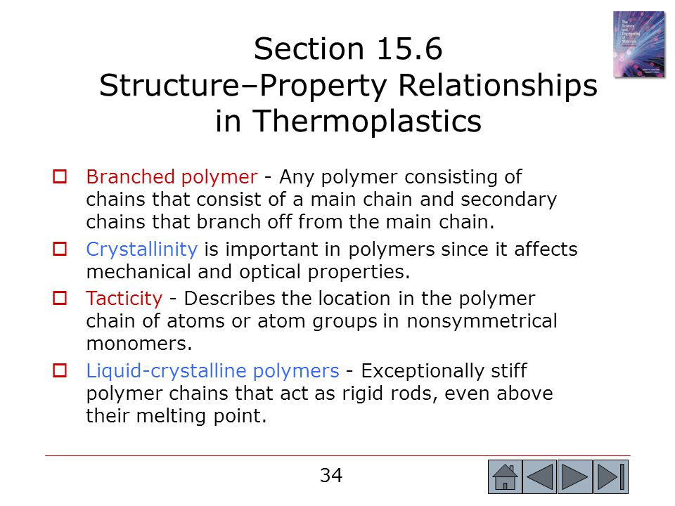 Section 15.6 Structure–Property Relationships in Thermoplastics