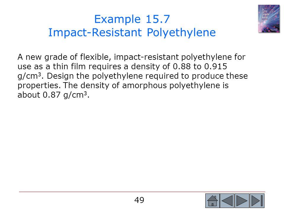 Example 15.7 Impact-Resistant Polyethylene