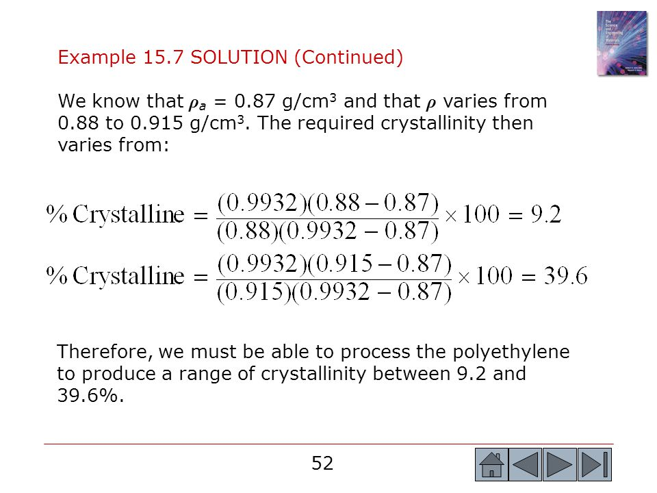 Example 15.7 SOLUTION (Continued)