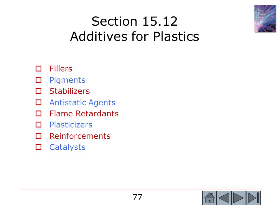Section 15.12 Additives for Plastics