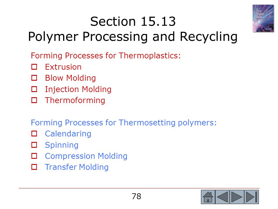 Section 15.13 Polymer Processing and Recycling